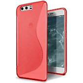 Coque Lapinette Gel Vague S Huawei P10 Rouge