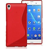 Coque Lapinette Gel Vague S Sony Xperia Xa1 Rouge