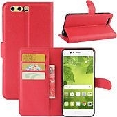 Etui Lapinette Portefeuille Huawei P10 Rouge