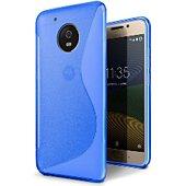 Coque Lapinette Gel Vague S Motorola Moto G5 Bleu