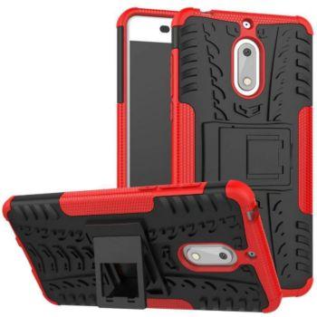 Lapinette Anti Choc Nokia 6 Modèle Spider Rouge
