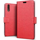 Etui Lapinette Portefeuille Huawei P20 Rouge