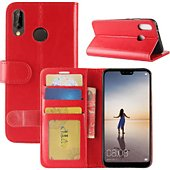 Etui Lapinette Portefeuille Huawei P20 Lite Rouge