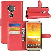 Etui Lapinette Portefeuille Motorola Moto E5 Play Rouge