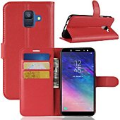 Etui Lapinette Portefeuille Samsung Galaxy A6 Rouge