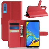 Etui Lapinette Portefeuille Samsung Galaxy A7 Rouge