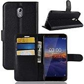 Etui Lapinette Portefeuille Nokia 3.1 2018 Noir