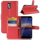 Etui Lapinette Portefeuille Nokia 3.1 2018 Rouge