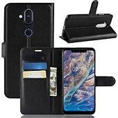 Etui Lapinette Portefeuille Nokia 8.1 Noir