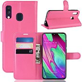 Etui Lapinette Portefeuille Samsung Galaxy A40 Rose