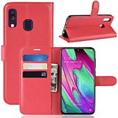 Etui Lapinette Portefeuille Samsung Galaxy A40 Rouge