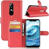 Etui Lapinette Portefeuille Nokia 5.1 Plus Rouge