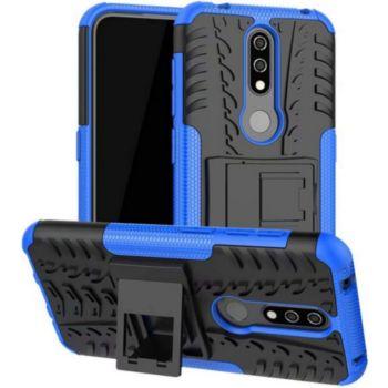 Lapinette Anti Choc Nokia 4.2 Modèle Spider Bleu