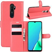 Etui Lapinette Portfeuille Oppo A5 2020 Rouge