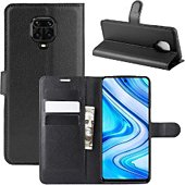 Etui Lapinette Portfeuille Xiaomi Redmi Note 9S Noir