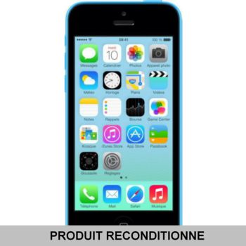 Apple iPhone 5C 16 Go Bleu Grade A+ 				 			 			 			 				reconditionné