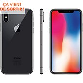 Smartphone Apple iPhone X 64Go Gris sidéral Reconditionné