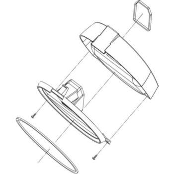LG Couvercle bac à poussières ACQ57041005