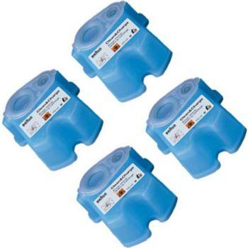 Braun Pack de 4 Recharges de liquide nettoyant
