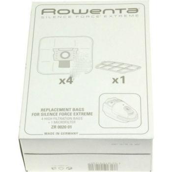Rowenta Lot de 4 sacs + 1 filtre ZR002001