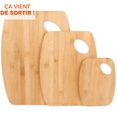 Planche à découper Cook Concept a decouper en bambou x3