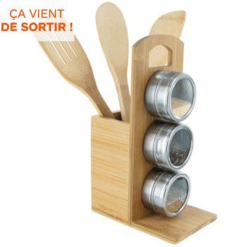 Cook Concept set de 3  en bambou et porte epices