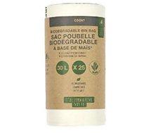 Sac poubelle Cook Concept  biodegrable 30l x25