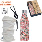 Bouteille isotherme Cook Concept coffret isotherme fleurie M8
