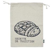 Sac à pain Cook Concept  a pain tranche en toile 26x36cm