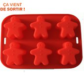 Moule à cake Cook Concept a cake silicone  6 gingerboy