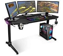 Bureau gamer Spirit Of Gamer  HEADQUARTER 400 - RGB - Grande tail