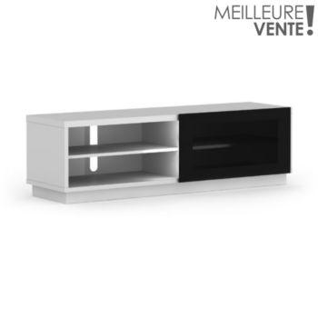 de conti stile 1 1m60 blanc meuble tv boulanger. Black Bedroom Furniture Sets. Home Design Ideas