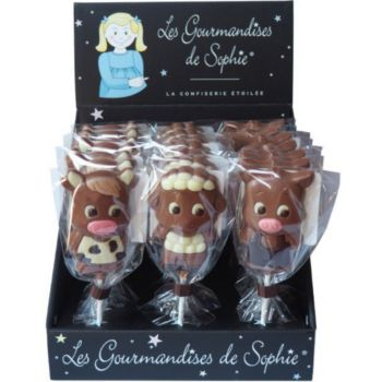Gourmandises Sophie sucette chocolat animaux de la ferme