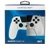 Manette Under Control Manette PS4 Filaire Blanche