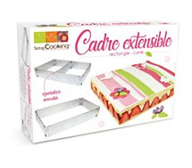 Cadre à pâtisserie Scrapcooking  extensible rectangle 27/52 cm  inox