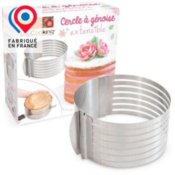 Scrapcooking a genoise extensible inox 16 a 20 cm