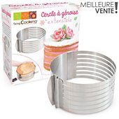 Ustensile Scrapcooking a genoise extensible inox 16 a 20 cm