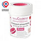 Colorant alimentaire Scrapcooking artificiel en poudre rose 5g