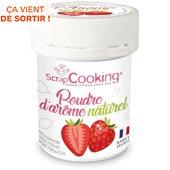 POT Scrapcooking poudre d arome naturel fraise 15g