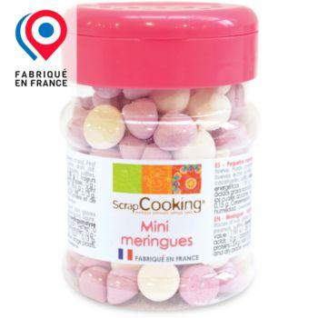 Scrapcooking mini meringues parmes blanches 35g
