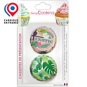 Caissette Cupcake Scrapcooking x 36 Tropical