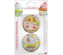 Caissette Cupcake Scrapcooking  x 36 Licorne