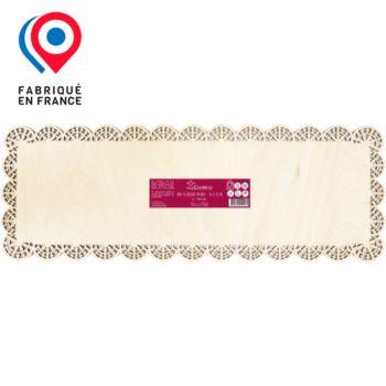 Scrapcooking rectangle dentelle bois 36x13 cm