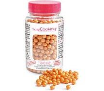 Décoration de pâtisserie Scrapcooking  sucre perles dorees 55g