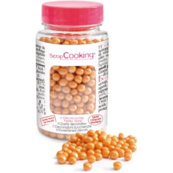 Scrapcooking sucre perles dorees 55g
