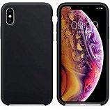 Coque Ibroz  iPhone Xs Liquid Silicone noir
