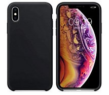 Coque Ibroz iPhone Xs Liquid Silicone noir