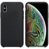 Coque Ibroz  iPhone Xs Max Liquid Silicone noir