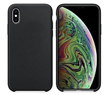 Coque Ibroz  iPhone Xs Max Liquid Silicone noir