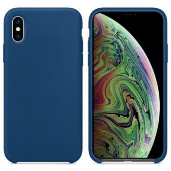Ibroz iPhone Xs Max Liquid Silicone bleu